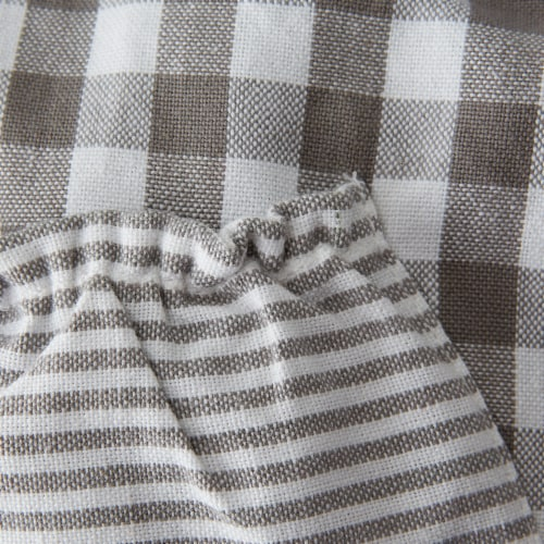 DII Gray/White Gingham Apron Perspective: back