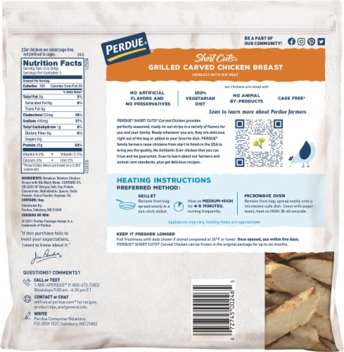 Perdue® Short Cuts® Grilled Carved Chicken Breast Perspective: back