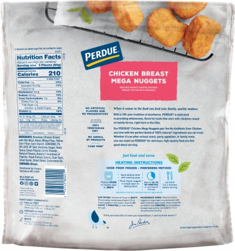 Perdue Chicken Breast Mega Nuggets Perspective: back