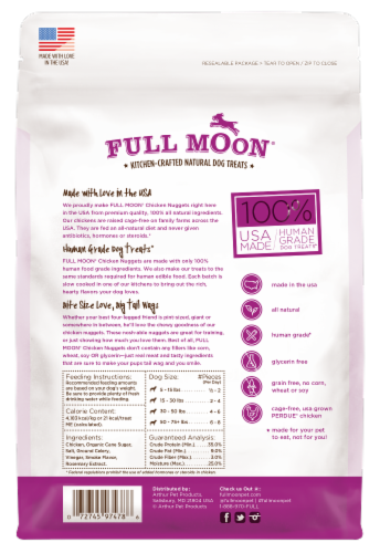 Full Moon Chicken Nuggets Natural Dog Treats Perspective: back
