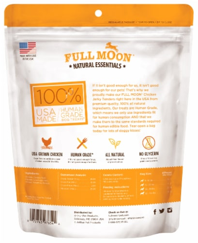 Full Moon Natural Essentials Chicken Jerky Tenders Dog Treat Perspective: back