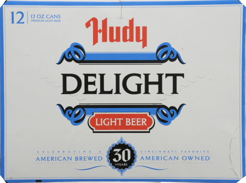 Hudy Delight Light Beer Perspective: back
