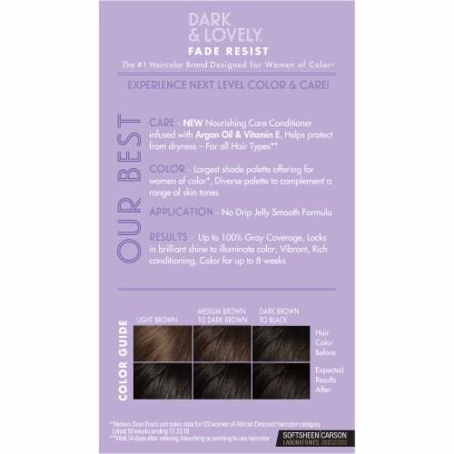 Dark & Lovely® 371 Jet Black Fade Resist Hair Color Perspective: back
