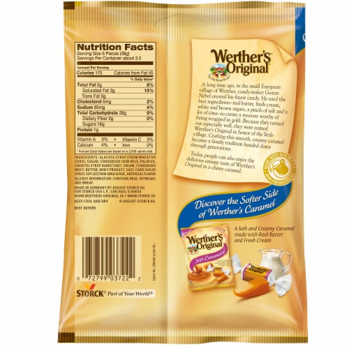 Werther's Original Chewy Caramels Perspective: back