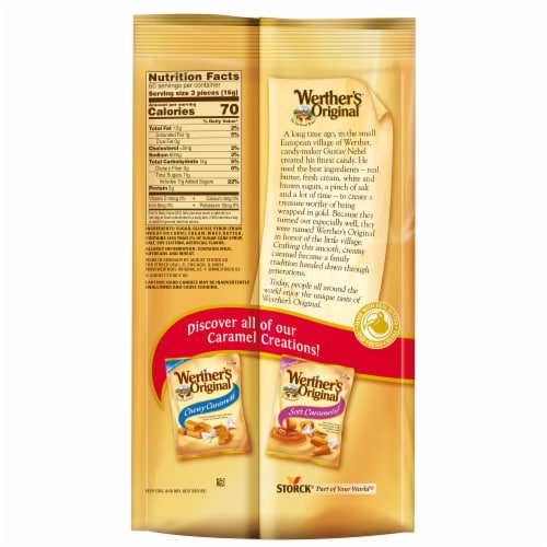 Werther's Original Caramel Hard Candies Perspective: back