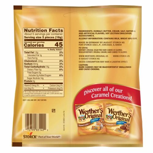 Werther's Original Sugar Free Hard Candies Perspective: back