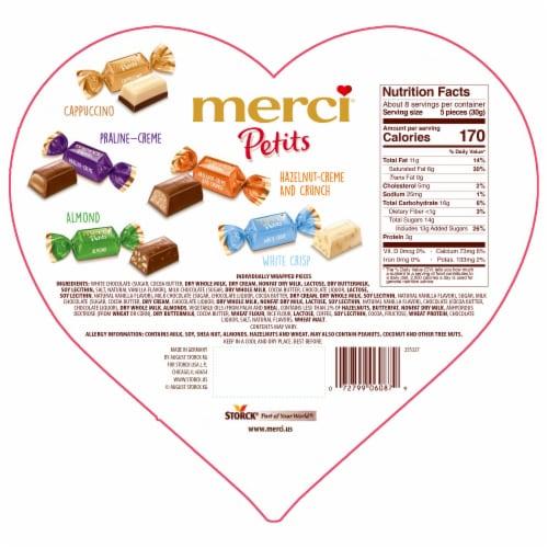 Storck Merci Petits European Chocolates Assortment Heart Box Perspective: back