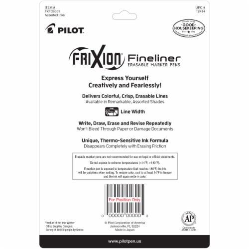 Pilot Frixion Fineliner Erasable Marker Pens Perspective: back