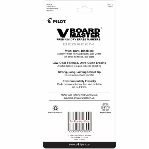 Pilot V Board Master Premium Dry Erase Markers - Black Perspective: back