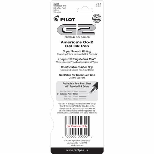 Pilot® G2® Black Extra-Fine Comfort Grip Gel Roller Pens Perspective: back
