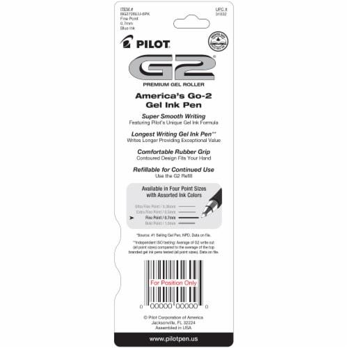 Pilot G2 Comfort Grip Premium Gel Roller Pens - Blue Perspective: back