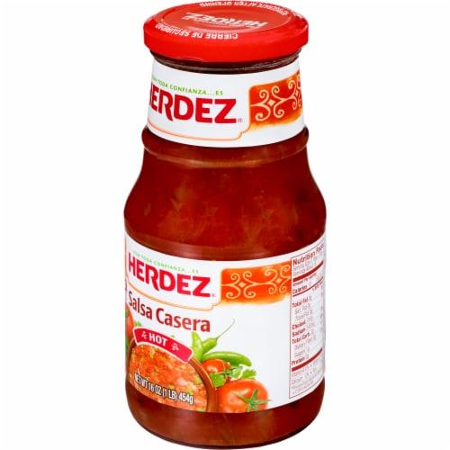 Herdez Hot Salsa Casera Perspective: back