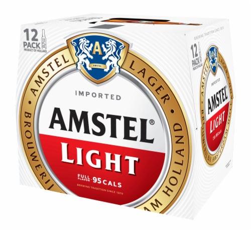 Amstel Light Beer 12 Pack Perspective: back