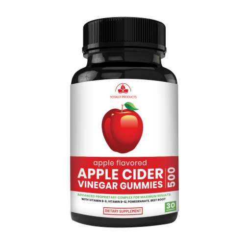 Apple Cider Vinegar Gummies with Pomegranate, Beet Root And Vitamin B6 - 6 bottles Perspective: back