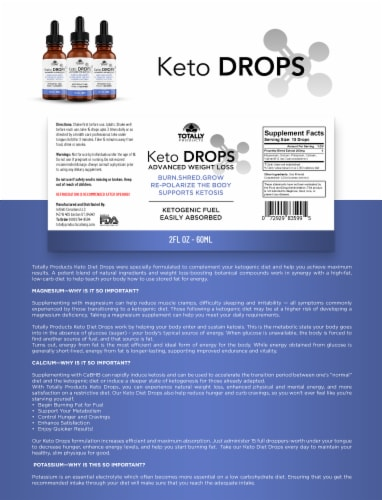 Advanced Keto Weight Loss Drops - 60ml Perspective: back