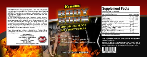 Xtreme Fat Burn Weight Loss and Calorie Burner (60 capsules) Perspective: back