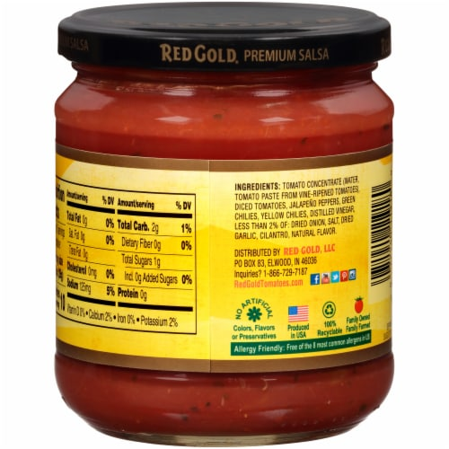 Red Gold® Hot Salsa Perspective: back