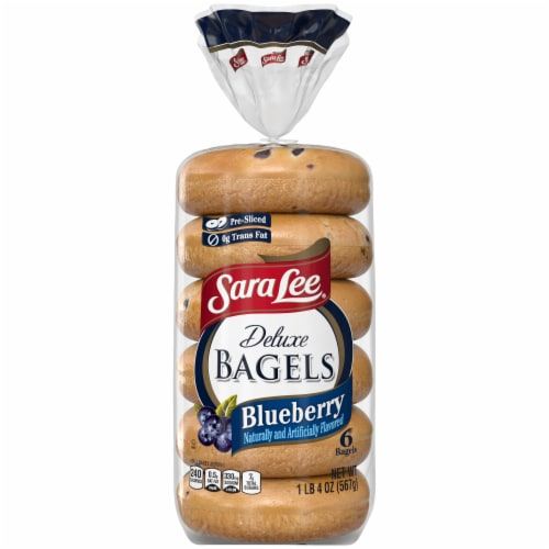 Sara Lee Deluxe Blueberry Bagels Perspective: back