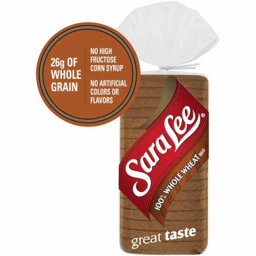 Sara Lee Classic 100% Whole Wheat Bread Perspective: back
