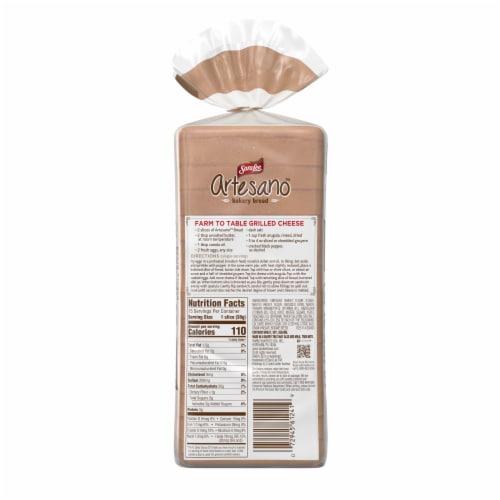 Sara Lee Artesano White Bakery Bread Perspective: back