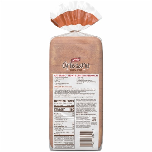 Sara Lee® Artesano™ Maple & Brown Sugar Bread Perspective: back