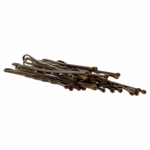 Bob Pins - Brown by Morris Flamingo for Women - 1.88 Inch Hair Pin (1 Pound) Perspective: back