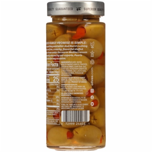 Pearls® Pimiento Stuffed Queen Green Olives Perspective: back