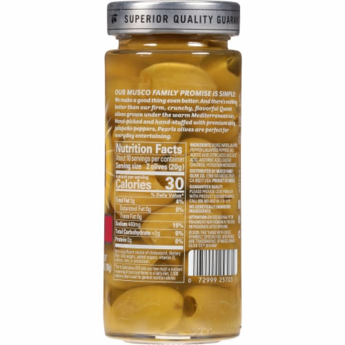 Pearls Specialties Jalapeno Stuffed Green Olives Perspective: back