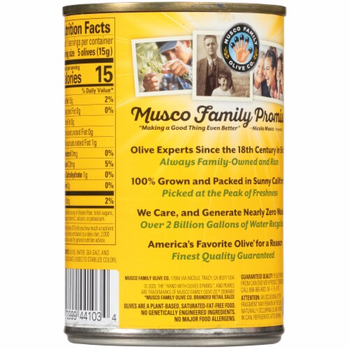 Pearls® Medium Pitted California Ripe Olives Perspective: back