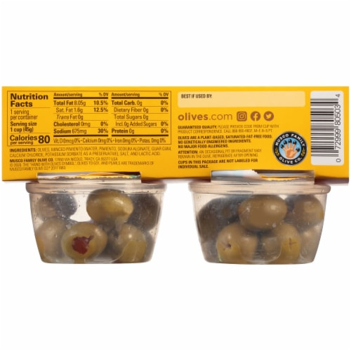 Pearls® To Go Pimiento Stuffed Olives Perspective: back