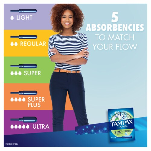 Tampax Pearl Super Absorbency Unscented Tampons Perspective: back