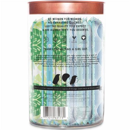 L. Organic Regular + Super Cotton Tampons Perspective: back
