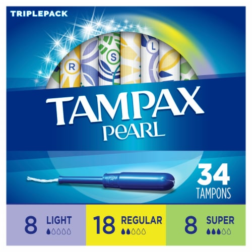 Tampax Pearl LeakGuard Scented Tampons Triple Pack Perspective: back