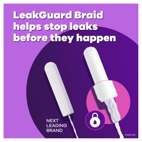 Tampax Radiant Regular & Super Absorbency Unscented Tampons Perspective: back