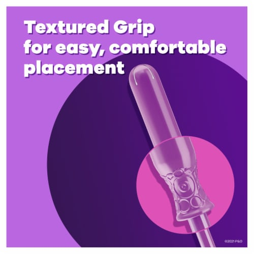 Tampax Radiant Light Absorbency Unscented Tampons Perspective: back