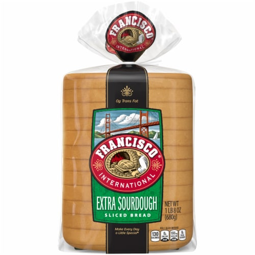 Francisco® International Extra Sourdough Square Bread Perspective: back