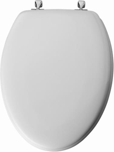 Mayfair Elongated White Molded Wood Toilet Seat Perspective: back