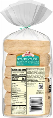 Oroweat Sour Dough English Muffins Perspective: back