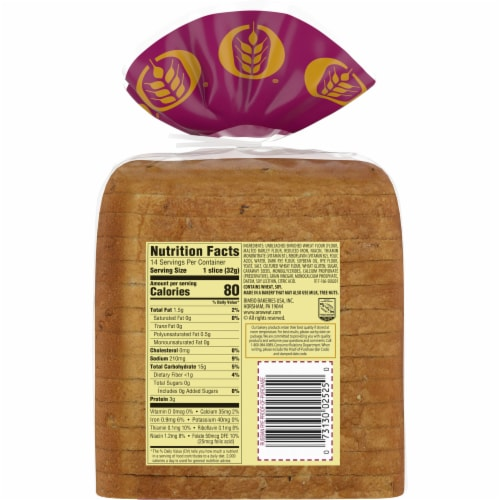 Oroweat Russian Rye Bread Perspective: back