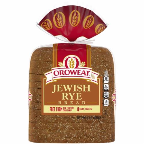 Oroweat Jewish Rye Bread Perspective: back
