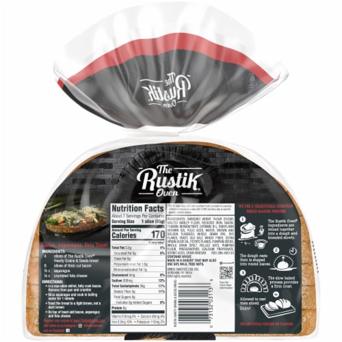 The Rustik Oven Hearty Grains & Seeds Bread Perspective: back