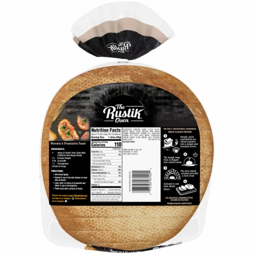 The Rustik Oven Bold California Sourdough Bread Perspective: back