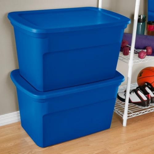 Sterilite Storage Tote Box - Blue Morpho Perspective: back