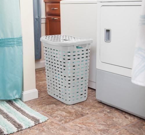 Sterilite Weave Laundry Hamper - Cement Perspective: back