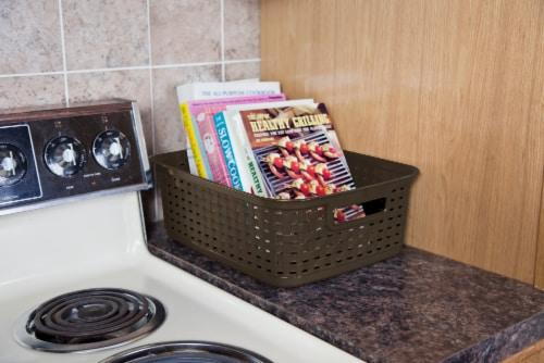 Sterilite Short Weave Basket - Espresso Perspective: back