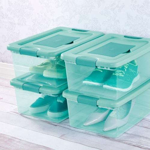 Sterilite Fresh Scent Storage Box - Aqua Perspective: back