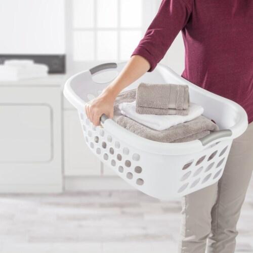 Sterilite Ultra HipHold 1.25-Bushel Laundry Basket - White Perspective: back