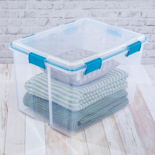 Sterilite Gasket Box - Blue Aquarium/Clear Perspective: back