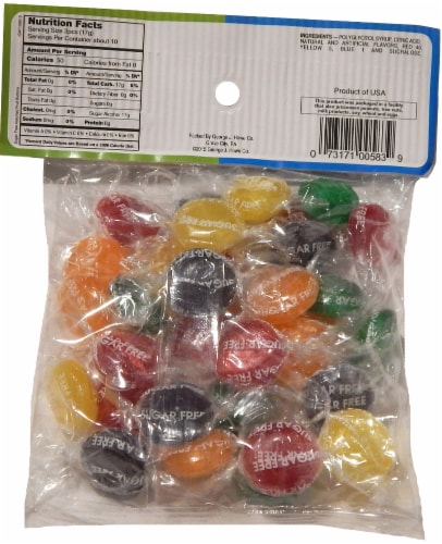 George J Howe Company Sugar Free Assorted Fruit Buttons Perspective: back
