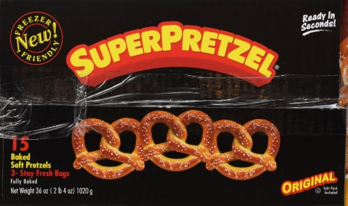 SuperPretzel Soft Pretzel 15ct Perspective: back